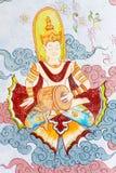 Arte tailandesa tradicional da pintura do estilo na parede do templo Imagem de Stock Royalty Free