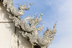 Arte tailandese al tempio bianco Fotografia Stock