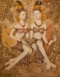 Arte tailandese del modanatura di stile Fotografia Stock Libera da Diritti