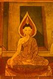 Arte tailandese del reticolo sulle pareti del tempiale. Fotografia Stock
