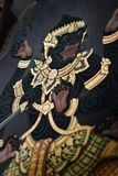 Arte tailandese della parete del tempiale fotografia stock