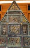 Arte tailandese di legno dell'oggetto d'antiquariato di regno di Lanna Immagine Stock Libera da Diritti