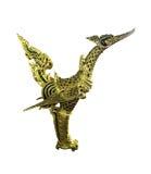 Arte tailandese di stile della statua del cigno isolata immagini stock libere da diritti