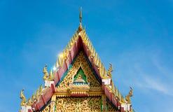 Arte tailandese, il timpano della chiesa Immagine Stock Libera da Diritti