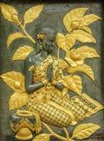 Arte tailandese natale del modanatura di stile Immagini Stock Libere da Diritti