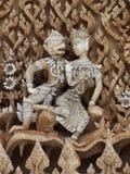 Arte tailandese nell'amore Fotografia Stock