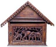 Arte tailandese su legno Fotografia Stock Libera da Diritti