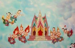 Arte tailandese sul tetto del tempiale Fotografie Stock Libere da Diritti