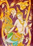 Arte tailandese sulla parete Immagine Stock Libera da Diritti