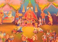Arte tailandese tradizionale della pittura Immagini Stock