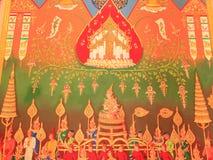 Arte tailandese tradizionale della pittura Fotografia Stock Libera da Diritti