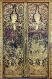 Arte tailandese tradizionale della pittura in tempio Fotografia Stock Libera da Diritti