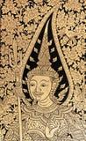 Arte tailandese tradizionale della vernice di stile Immagini Stock Libere da Diritti