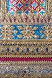 Arte tailandese tradizionale sulla parete del tempio reale Immagine Stock Libera da Diritti