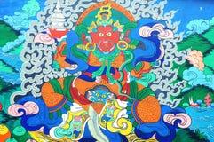 Arte tibetana antiga da pintura de parede fotos de stock royalty free