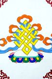 Arte tibetano antiguo de la pintura de pared Fotografía de archivo libre de regalías
