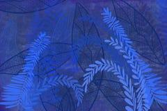 A arte tirada mão tingiu o fundo do grunge com olhar da tinta do estilo japonês no fundo antiqued da borda no azul de índigo ilustração royalty free