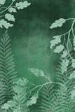 A arte tirada mão tingiu o fundo do grunge com olhar da tinta do estilo japonês no fundo antiqued da borda na obscuridade - verde ilustração royalty free