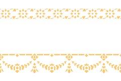 Arte tradicional del modelo tailandés de oro del estilo Imagen de archivo libre de regalías