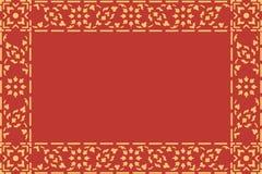 Arte tradicional tailandesa dourada do teste padrão do estilo Imagens de Stock