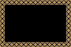 Arte tradicional tailandesa dourada do teste padrão do estilo Imagem de Stock Royalty Free