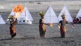 Arte tradicional Yadnya Kasada Foto de Stock Royalty Free
