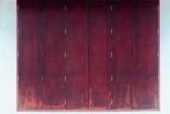 Arte tradizionale stile tailandese di legno della finestra di vecchio Immagine Stock