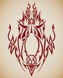 Arte tribal abstrata Imagens de Stock Royalty Free