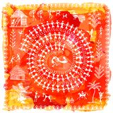 Arte tribal de Warli Imagem de Stock Royalty Free