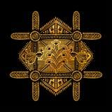 Arte tribal de Warli Fotografia de Stock Royalty Free