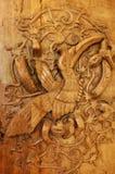 Arte tribal del pájaro del hornbill de Borneo Imagenes de archivo