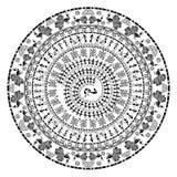 Arte tribal do warli redondo ilustração do vetor