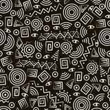 Arte tribal. Modelo inconsútil con las figuras abstractas Fotografía de archivo libre de regalías