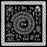 Arte tribale di Warli illustrazione di stock