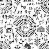 Arte tribale 7 di Warli illustrazione di stock