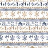 Arte tribale di Warli illustrazione vettoriale