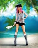 Arte tropicale del pirata di fantasia Immagine Stock Libera da Diritti
