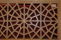 Arte turca do otomano com testes padrões geométricos Fotografia de Stock