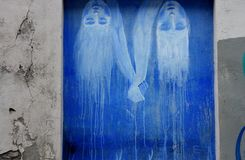 Arte in upis del ¾ di UÅ, Vilnius della via Fotografia Stock