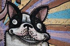 Arte urbana - cão Fotografia de Stock
