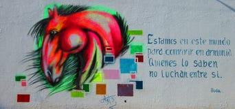 Arte urbana Cavallo di Multicolors Immagine Stock Libera da Diritti
