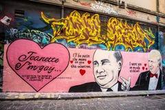 Arte urbana da rua de Melbourne fotos de stock royalty free