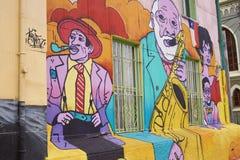 Arte urbana de Valparaiso Imagens de Stock