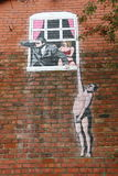 Arte urbana della via immagini stock libere da diritti