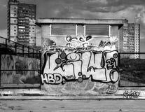 Arte urbana moderna da rua no concreto Fotos de Stock Royalty Free