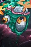 Arte urbana - mostro Fotografia Stock Libera da Diritti