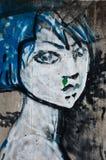 Arte urbana - mulher Foto de Stock