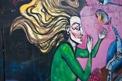 Arte urbana - mulher adulta Imagem de Stock