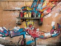 Arte urbana nas paredes fotos de stock
