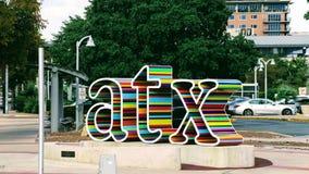 Arte urbana pública de ATX fotos de stock